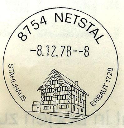 Werbestempel mit dem Stählihaus am 8.12.78