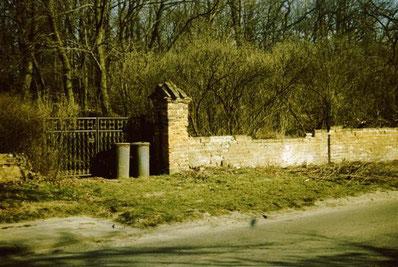 Reste der originalen Friedhofsmauer 1988.