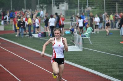 Lavinia Brune beim 75m Sprint der Altersklasse WJ U14.