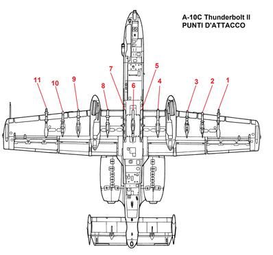 Con l'entrata in servizio degli A-10C, oltre all'armamento classico sono state introdotte le bombe di ultima generazione JDAM (Joint Direct Attack Munition) e SDB (Small Diameter Bomb)