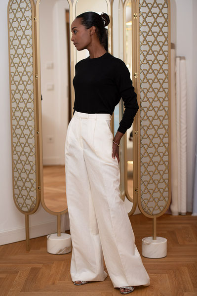 Jennifer Klein Couture Frankfurt The Couture House trousers suits hosen damen traditional tailoring handsewn multiple styles