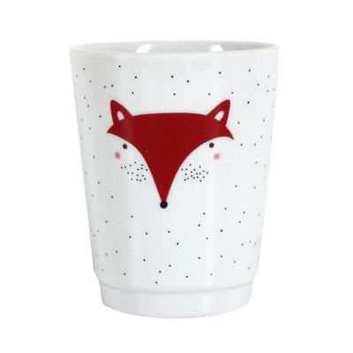 Ava&Yves Porzellan Kinder-Becher Trinkbecher Kindergeschirr Fuchs - zuckerfrei | Kids Concept Store