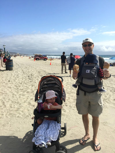 Mission Beach Boardwalk San Diego - Travel with a baby
