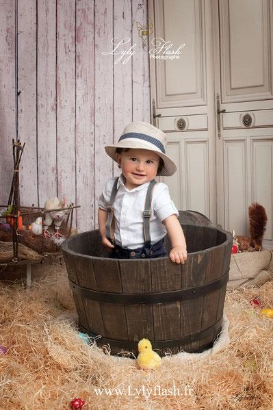 photographe bébé var pâques