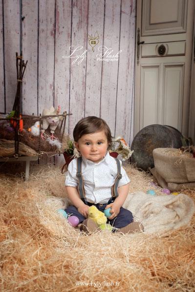 photographe bébé paques var