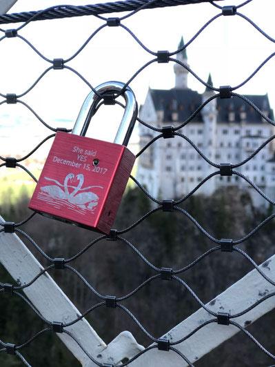 Heiratsantrag im Schloss Neuschwanstein