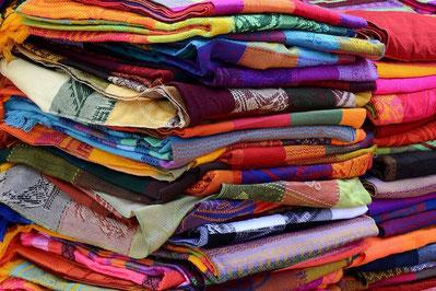 Tissu couleur printanière