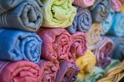 tissu coloré déco