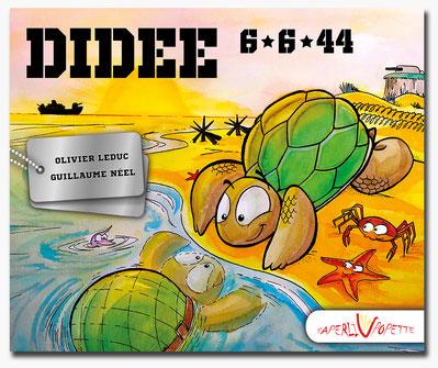 Didée, tortue, D-Day, livre, carapace, casque