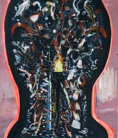 innermost, 2019, mixed media on canvas, 120 x 100 cm