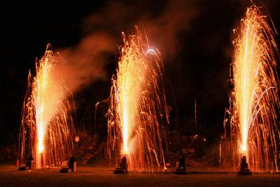 Feuerwerksvulkane Silvester