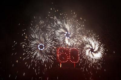 Brennende Zahl Geburtstagsfeuerwerk
