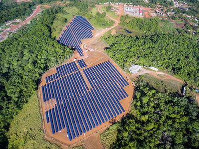 One of Voltalia's remote solar-diesel hybrid power plants - (c) Voltalia