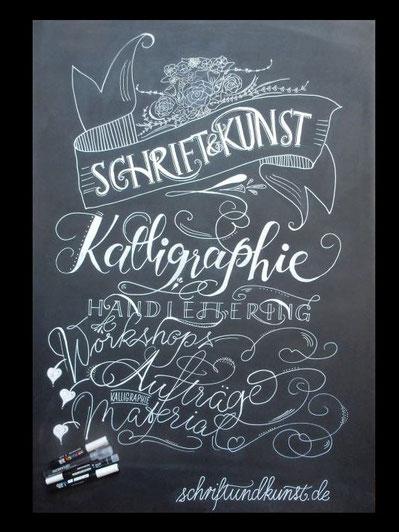 Kreidetafel-Beschriftung für Events, Messe, Restaurants, Cafes