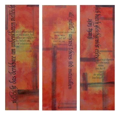Kalligraphie Kunstwerk Acryl auf Leinwand