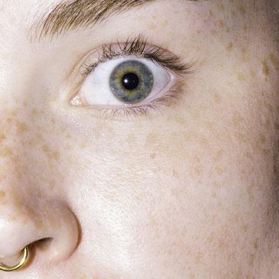 Auge, grüne Augen, Septum, Sommersprossen, rote Haare, portrait, Nahaufnahme