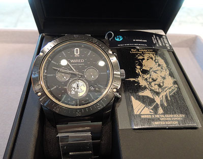 セイコーWIREDとメタルギアⅤのコラボ腕時計AGAV777