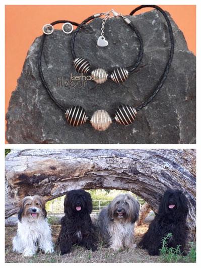 Tibet Terrier Filz; Schmuck aus Hundehaaren