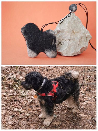 Geschenke für Hundefreunde, Tibet Terrier aus Filz