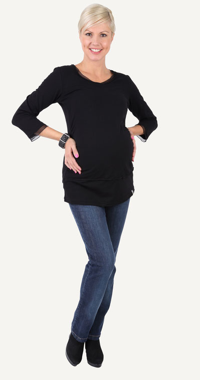 "be mama! Maternity Blouse ""Swing"" - Black"