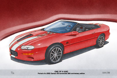 2002 Camaro SS limited edition print