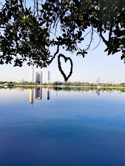 Blick vom Park Hyatt auf die Skyline von Dubai
