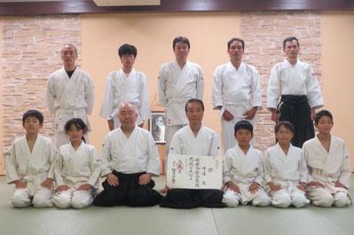 平成28年11月20日 渡邊さんの弐段が道主から允可されました(武居氏撮影)