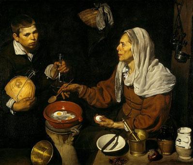 Самые известные картины Диего Веласкеса - Старуха, жарящая яйца
