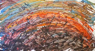 Farblandschaft II, 100 x 190 cm