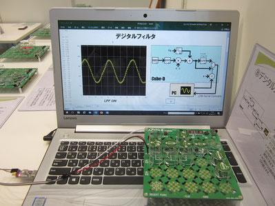 Cube-DとPCを接続してデータの送受信を行うデモ