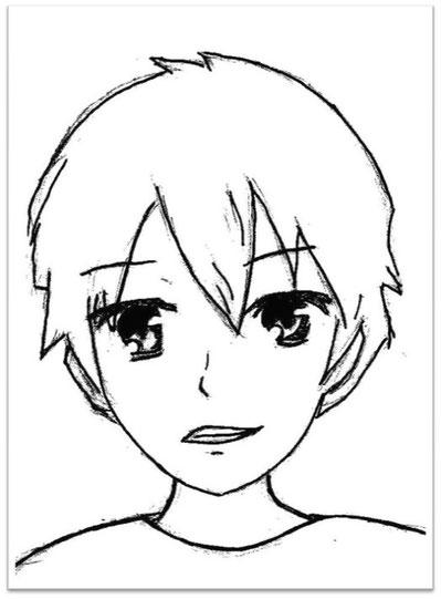10-Minuten-Malerei: Manga-Gesicht