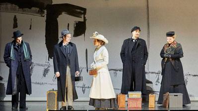 Klee, Einstein, Lily Klee, Lenin, Krupskaja (von links)
