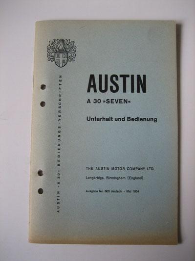 Austin A3 Seven Unterhalt und Bedienung Foto 108
