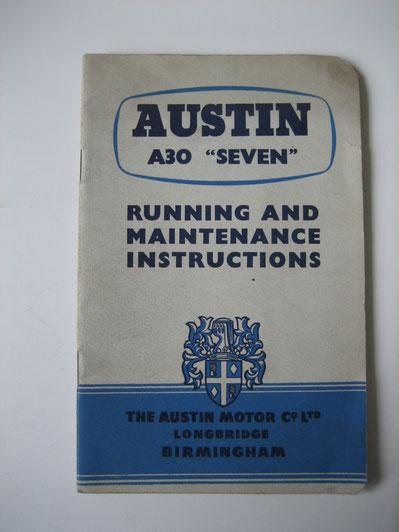 Austin A30 Seven Running and maintenance instructions Foto 109