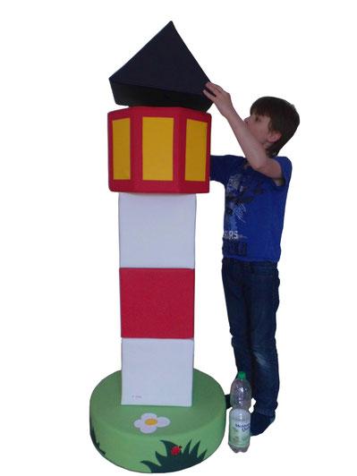 XXL Bausteine aus Schaumstoff Leuchtturm derBaustein.shop