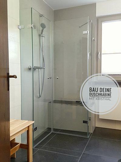 Duschkabinen selbst bauen mit Kristhal. Zubehör, Glas, Scharniere, Dichtungen... alles für eine schöne Duschabtrennung aus Glas