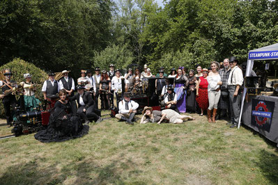 steampunk maxipark hamm events steampunk-station gartenbahn picknick