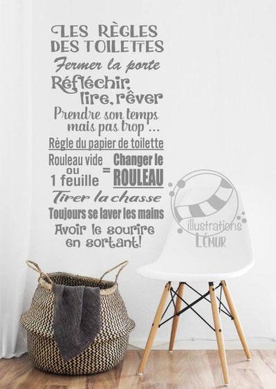 Décalque Règles des toilettes - Cliquez sur la photo pour en savoir plus