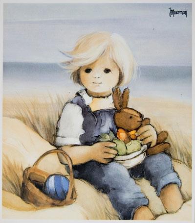 Jaklien Moerman Bild 80er Junge mit Hase