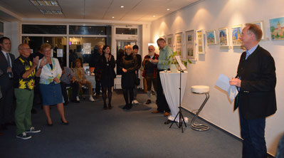 Gastgeber Klaus-Dieter Gröhler begrüßt die Gäste