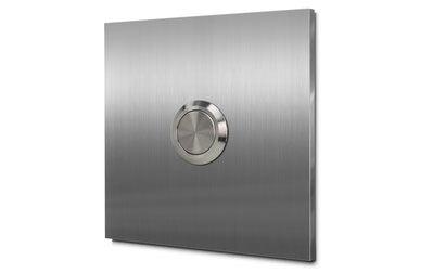 Hausnummernschild zweistellig, aus Edelstahl oder Aluminium