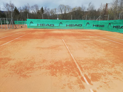 Tennisplatz am 17.03.2019
