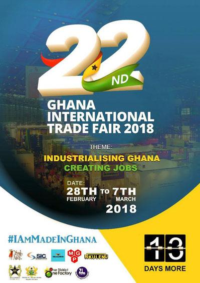 advertisement of 22nd international trade fair accra, ghana