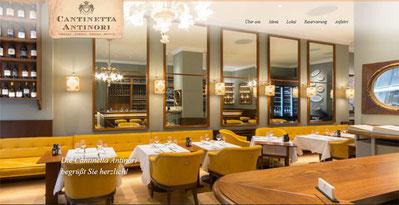 Im ehrwürdigen Ambiente der Cantinetta werden seit Jahrzehnten italienische Klassiker auf luxuriöse Weise interpretiert.