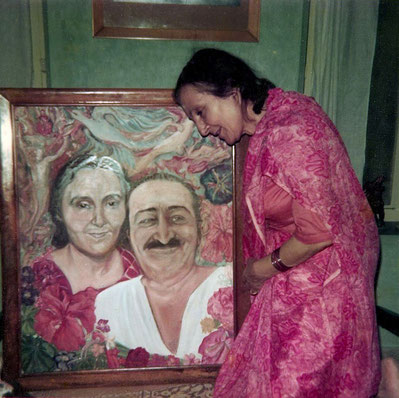Painting by Laurie gifted to Mehera Irani ar Meherazad, India