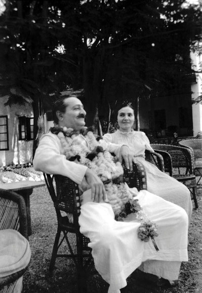 Meher Baba with Mehera in Meherazad. - Image courtesy of the Elizabeth Patterson Collection