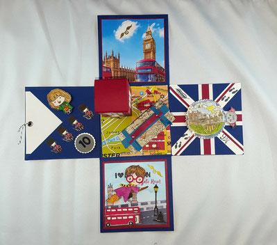 #Explosionsbox #Stempelliese.com #Reisegutschein #Geschenkgutschein #Londonreise #HarryPotter