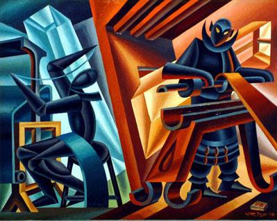"""F. Depero, """"Tornio e telaio"""" (1949)"""