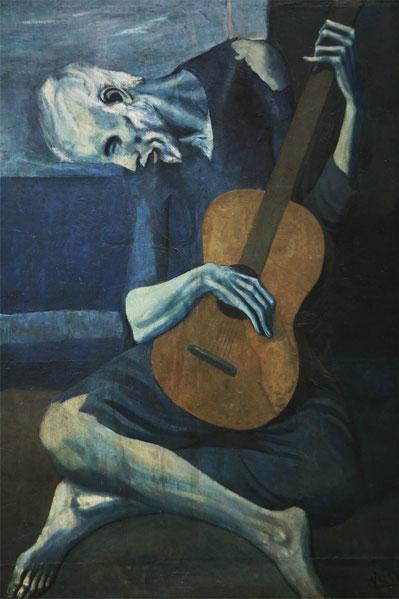 """Pablo Picasso, """"Il vecchio chitarrista cieco"""""""