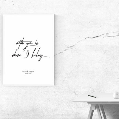 With you is where I belong - ab 7,99€